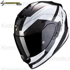 Шлем Scorpion EXO 1400 Carbon Air Legione, Бело-черный