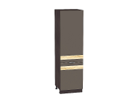 Шкаф-пенал с 2-мя дверцами Терра ШП600 D в цвете Смоки софт