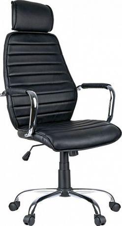 """Кресло руководителя Helmi HL-E05 """"Event"""", экокожа черная, хром, механизм качания"""