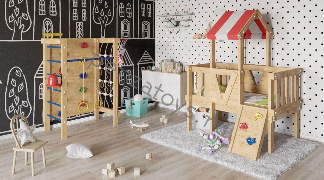 Детская игровая площадка/чердак Базз для дома и дачи