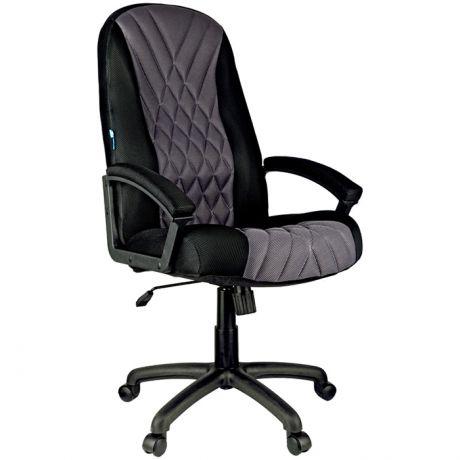 """Кресло руководителя Helmi HL-E85 """"Graphite"""", ткань TW черная/серая, мягкий подлокотник"""
