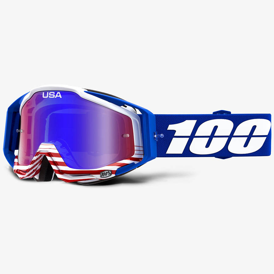 100% Racecraft Anthem Mirror Red/Blue Lens, очки для мотокросса