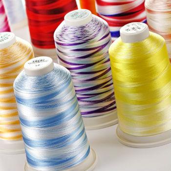 Вышивальные меланжевые нитки Fufus OMBRE (5000м)