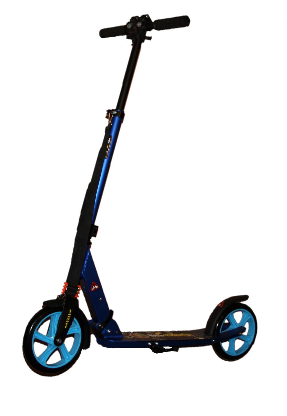 Самокат для взрослых и подростков складной алюминиевый  двухколесный City Riding 200 mm.