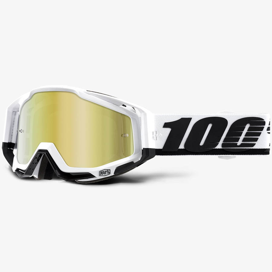 100% Racecraft Stuu Mirror Gold Lens, очки для мотокросса