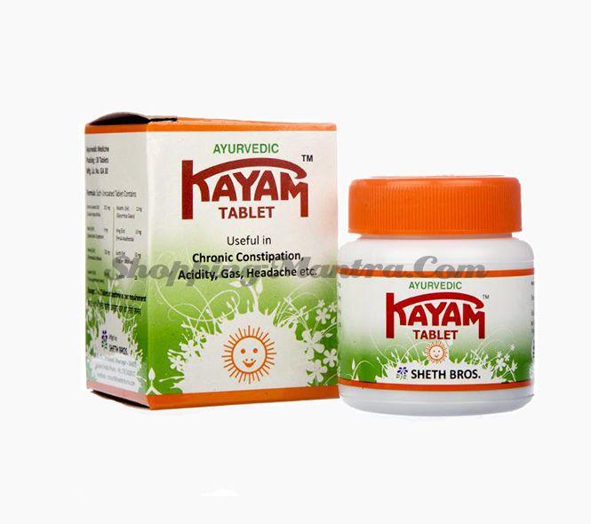 Каям таблетки от запоров Sheth Bros. Kayam Tablets