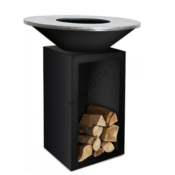 Гриль OFYR Classic 85-100 черный  диаметром 85 см с поленницей