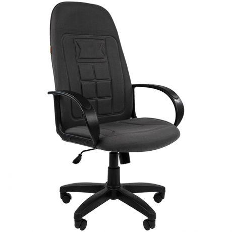 Кресло руководителя Chairman 727 PL, ткань серая, механизм качания