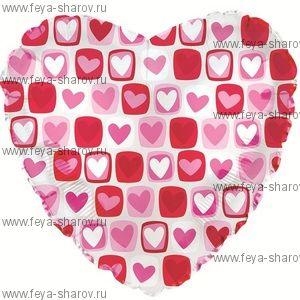 Шар-сердце прозрачное 46 см