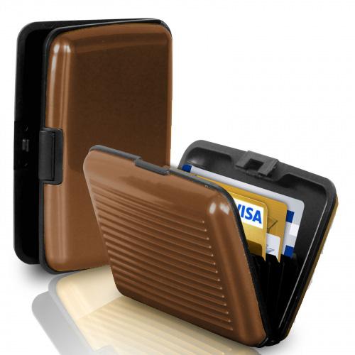 Кейс для кредитных карт Security Credit Card Wallet (цвет коричневый)