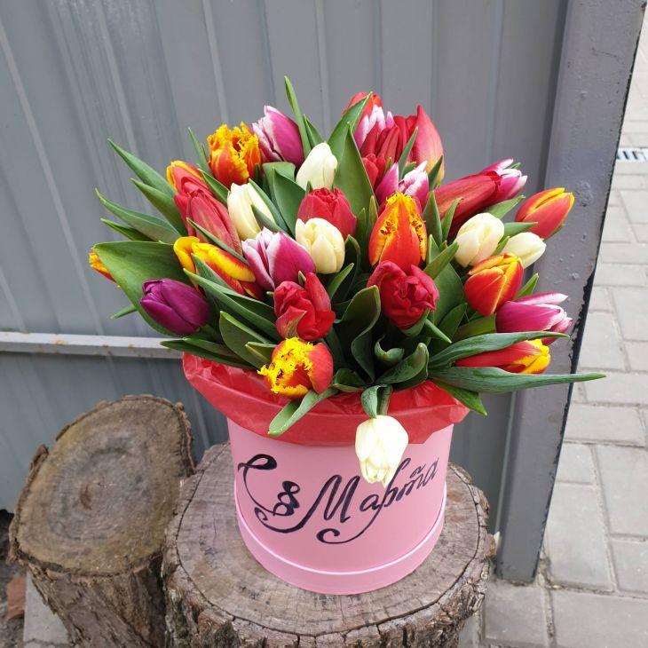 Коробочка из 29 тюльпан