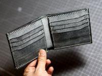 Классический кожаный бумажник-бифолд [HahnsAtelier]
