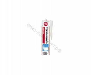 Герметик ТЕХНОНИКОЛЬ универсальный санитарный силикон, бесцветный, картридж, 280 мл
