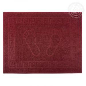 "Махровое полотенце Ножки ""АРТ Дизайн"" Бордо размер 50 х 70"