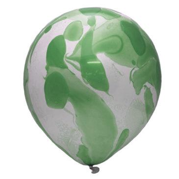 Оникс зеленый шар латексный с гелием