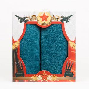 """Подарочный набор полотенец """"Звезда"""" КО-Р-01-морская волна размер Набор из 2 штук"""