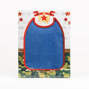 """Полотенце подарочное """"С 23 февраля!"""" махра ПМ-02-синий размер 50 х 90"""