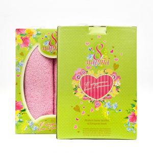 """Подарочный набор полотенец """"8 марта"""" ПС-12-розовый размер Набор из 2 штук"""