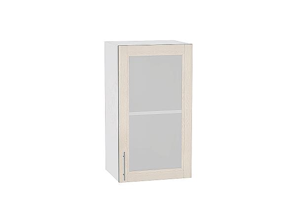 Шкаф верхний Сканди В400 со стеклом Cappuccino Softwood