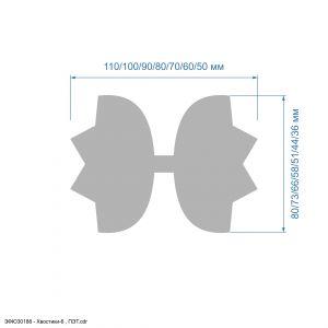 `Шаблон ''Хвостики-6'' , ПЭТ 0,7 мм