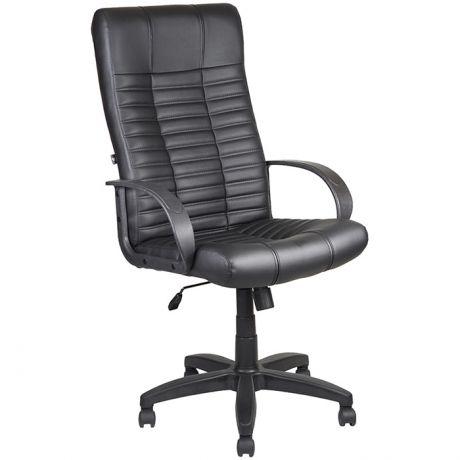 Кресло руководителя Алвест AV 104 PL (727), экокожа черный, механизм качания