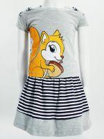 Комплект для девочки с юбочкой 3-7 лет ВК970КР серый