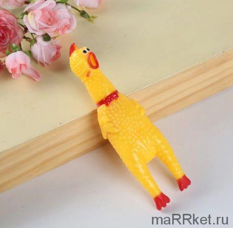 """Виниловая игрушка-пищалка для собак """"Орущая Курица"""", 32 см"""
