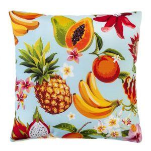Подушка декоративная Тропические фрукты 40х40 см, габардин, 100% п/э   4516222