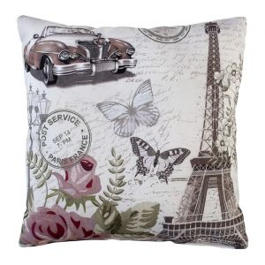 Подушка декоративная Париж 40х40 см, габардин, 100% п/э   4516220