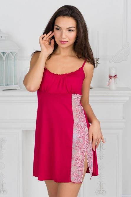 Ночная сорочка арт.0861-22 вишневая, вискоза