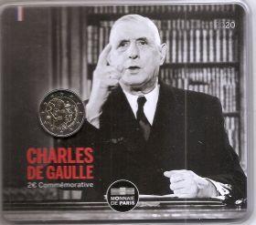 80 лет воззванию Шарля де Голля ко всем французам» 18 июня 1940 года 2 евро Франция 2020 BU Блистер