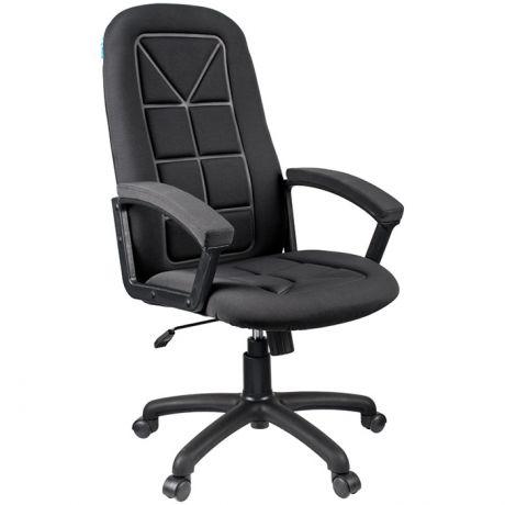 """Кресло руководителя Helmi HL-E89 """"Blocks"""", ткань S черная, мягкий подлокотник"""