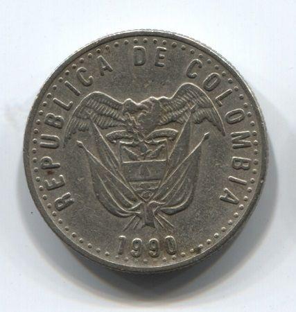 50 песо 1990 года Колумбия