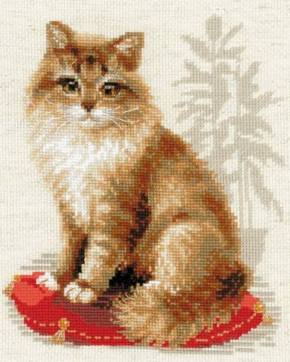 Набор для вышивания крестом Кошка домашняя №1525 фирма Риолис