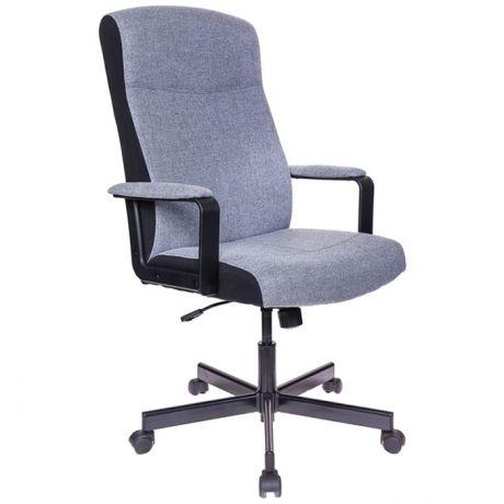 Кресло руководителя Бюрократ Dominus-FG ткань серая