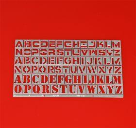 Трафарет буквы, латинский алфавит, 78 символов