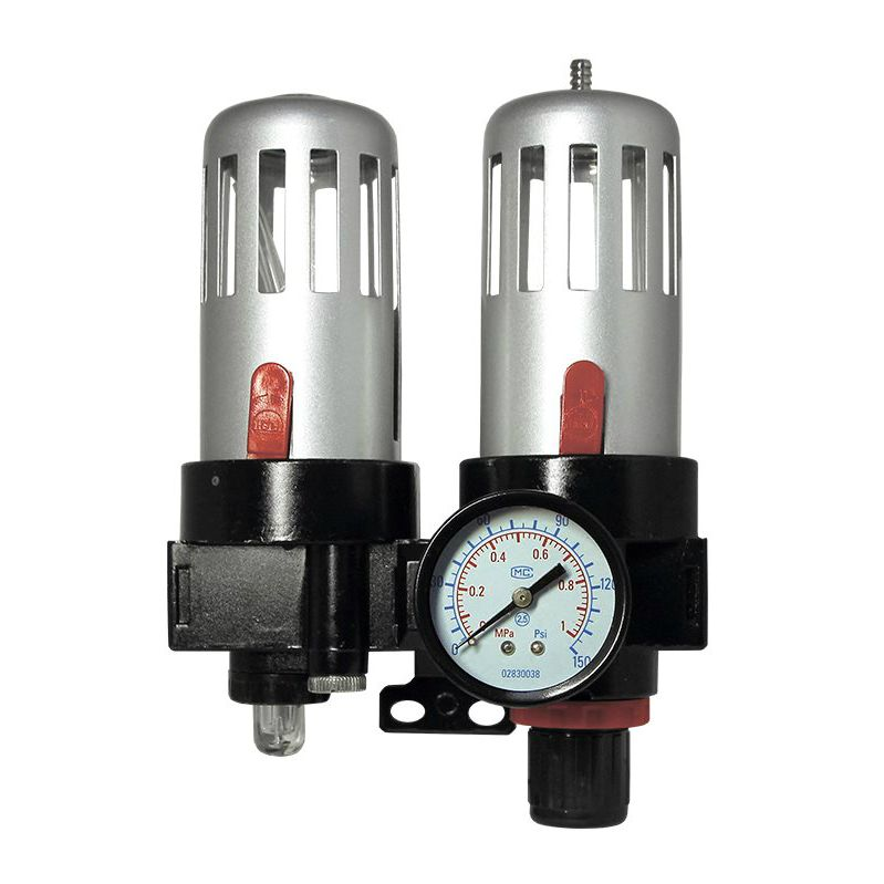 """Jeta JF40 Модуль: фильтр конденсата с регулятором и манометром - лубрикатор, максимальное давление 10 бар, 1/4"""""""
