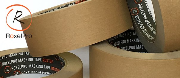 38мм*40м RoxelPro Малярная лента ROXTOP 3580, коричневая