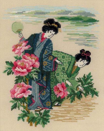 Набор для вышивания крестом Утренняя роса №1535 фирма Риолис