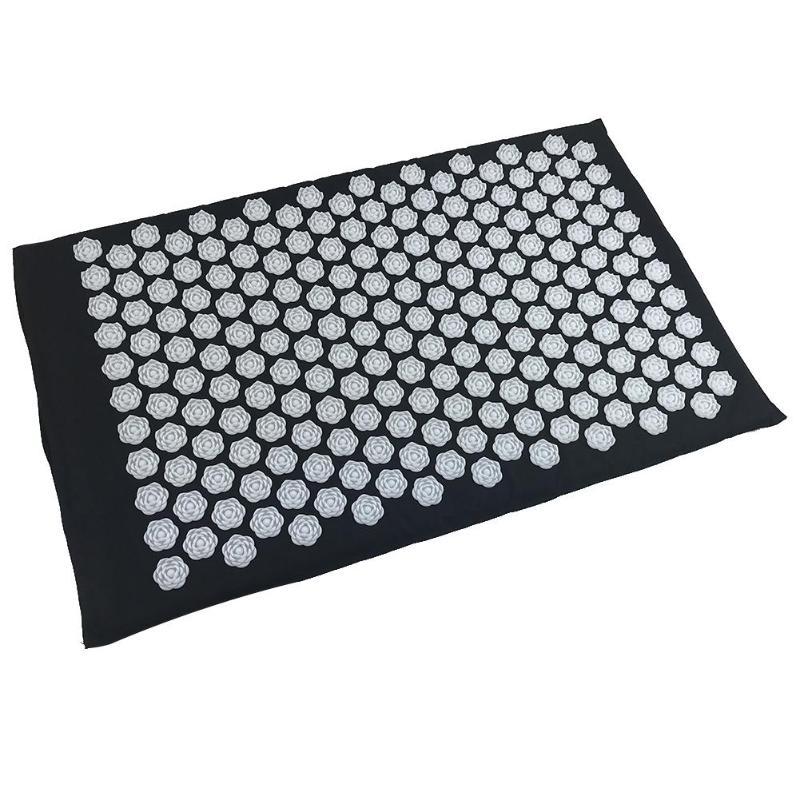 Акупунктурный массажный коврик Acupressure Mat (цвет серый)