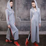 длинное платье с лампасами