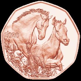 Друзья на всю жизнь (Пасхальная монета) 5 евро Австрия 2020