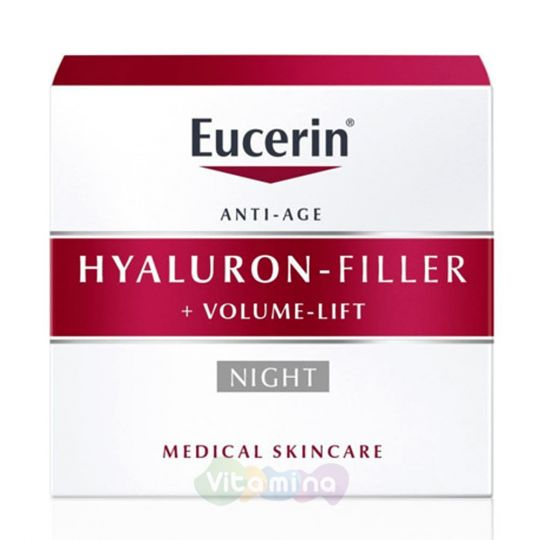 Eucerin Hyaluron-filler+volume lift Крем для ночного ухода, 50 мл