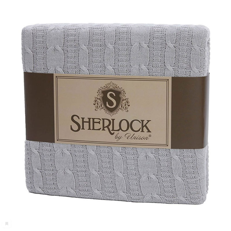 Плед вязанный Sherlock, серый