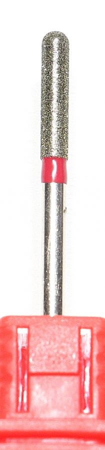 Бор фреза цилиндр, наконечник шар 3 мм (4069) красный