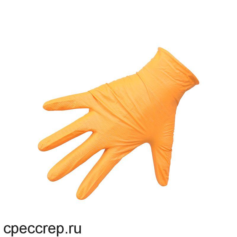 Нитриловые перчатки ROXTOP, чёрные/оранжевые, размер L