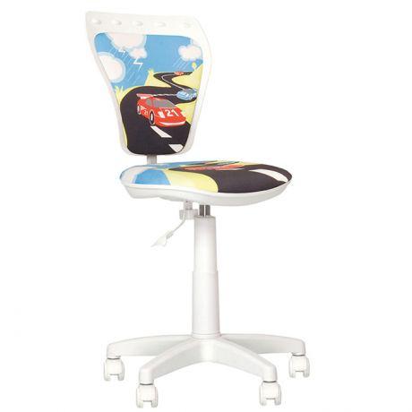 Кресло детское NowyStyl Ministyle, PL белый, ткань (Turbo), без подлокотников