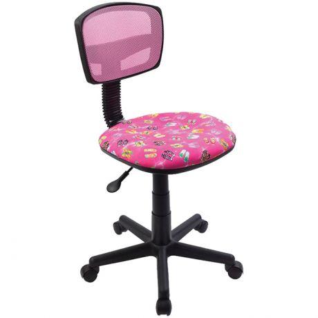 Кресло детское Бюрократ CH-299/PK/FLIPFLOP_P спинка сетка розовый сланцы, без подлокотников