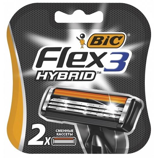 Bic Flex 3 Hybrid сменные кассеты (2 шт)