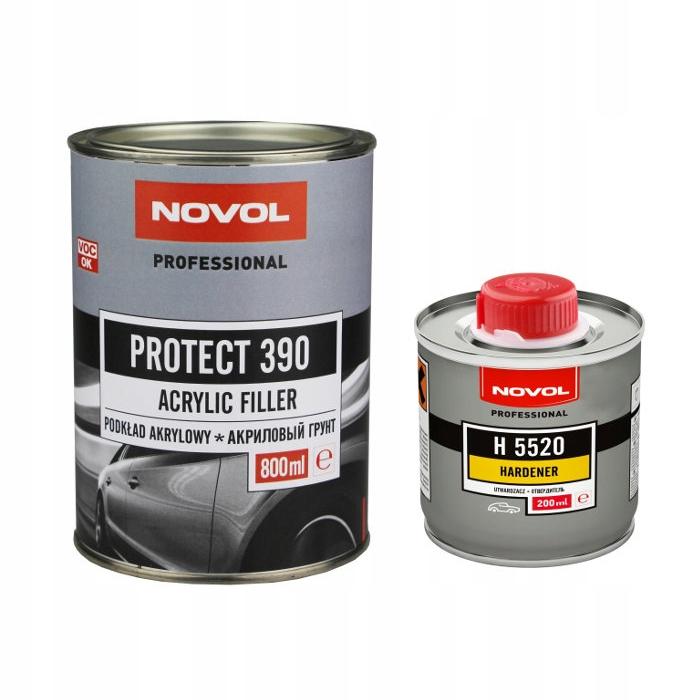 NOVOL Protect 390 Акриловый грунт, серый